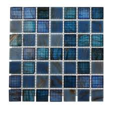 splashback tile bahama blue glass tile 3 in x 6 in x 8 mm tile