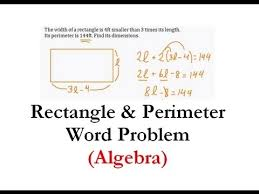 algebra 1 word problem rectangle u0026 perimeter q 1 made easy