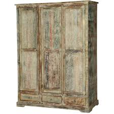 washed reclaimed wood large wardrobe armoire cabinet