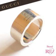 men s ring size brand ritz rakuten global market gucci small silver 925 logo