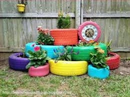 how to make a flower bed from tyres hibs100