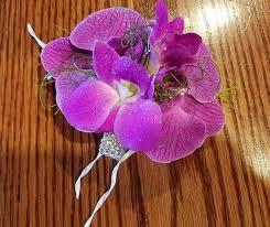 Orchid Corsage Purple Orchid Corsage European Petals