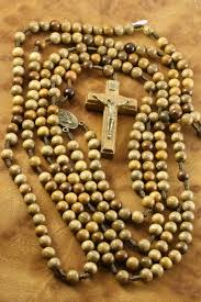 20 decade rosary 20 decade rosary cord mounted brown wood bead rosarycard net