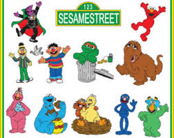 cookie monster clipart sesame street character pencil