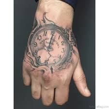 tattoo for hand 47 excellent clock tattoos for hand