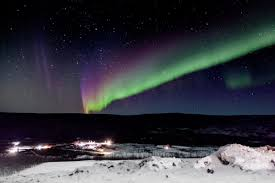 Solar Activity Northern Lights by Northern Lights Over Alaska Nasa