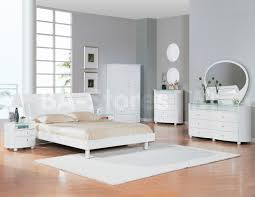 Bedroom Collections In White Emily 5 Pc Bedroom Set In White Bed Dresser Mirror Two