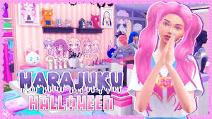costume shop halloween sims 4 harajuku halloween costume shop build cc youtube