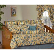 cherborg yellow u0026 blue floral daybed bedding comforter set