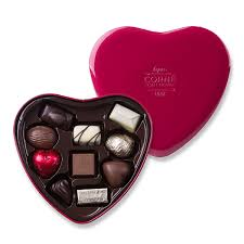 corné port royal tin heart with 10 chocolates delivery in united