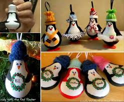 diy penguin light bulb ornaments pictures photos and images for