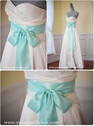wedding dress sash aqua bridal sash