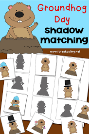 groundhog day shadow matching activity totschooling toddler