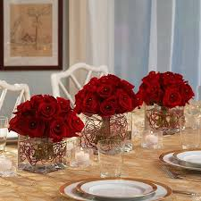 Christmas Floral Table Decoration Ideas by Best 25 Red Rose Centerpieces Ideas On Pinterest Red Wedding
