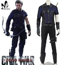 Anime Costumes Halloween Aliexpress Buy Captain America Civil War Hawkeye Cosplay