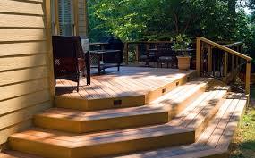 Wrap Around Deck Plans Wrap Around Deck Stairs With Lighting In Risers Garden Ideas