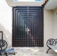 escher wrought iron security screen door model fd0103