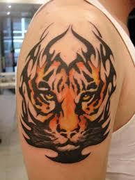 the best tribal tiger tattoo on arm tattoo photo doti38