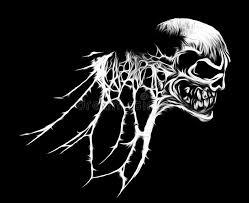 cool spider web skull graphic stock illustration illustration of