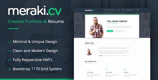 resume html template meraki one page resume html template by multidots themeforest