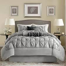 Grey Bedding Sets King Park Laurel Grey Comforter Set King Ruched Cali King