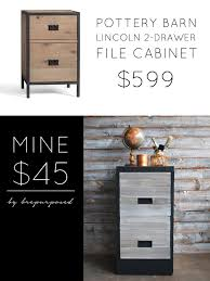 pottery barn knock off file cabinet themed furniture makeover