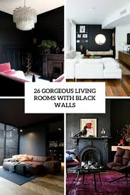 room with black walls 26 gorgeous living rooms with black walls digsdigs