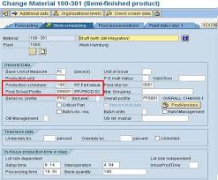sap production order table production order type selection erp operations scn wiki