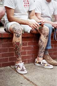 the stylish rise of leg tattoos for gq