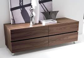 cool modern bedroom chest area rug and nightstand with sleigh bed