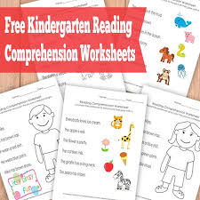 free kindergarten reading comprehension worksheets free