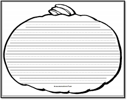 pumpkin writing paper u2013 8 handwriting lines a to z teacher stuff