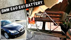 bmw 520i battery location bmw e60 e61 battery replacement without programming 525i 530i 535i