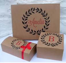 wedding gift boxes uk personalised monogram gift boxes by seahorse notonthehighstreet