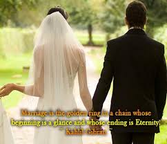 wedding wishes kahlil gibran marriage is the golden ring is a chain whose beginning is a glance