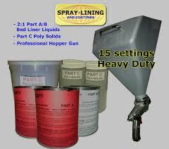 Bed Liner Spray Gun Compact Truck Bedliner Kit Pro