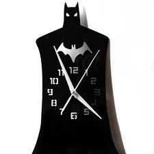 Designer Clock Aliexpress Com Buy Funlife Creative Batman Hero Wall Clock
