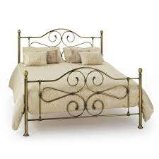 furniture simple gold gilded vintage metal bed frames combined