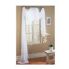Sheer Scarf Valance Window Treatments 37x216 Inch Polyester Sheer Scarf Valance Window Treatment For