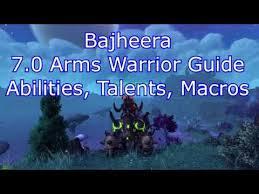 Bajheera Legion Arms Warrior Talent Guide Pve Pvp Bajheera 7 0 Arms Warrior Pvp Guide Talents Macros Rotation