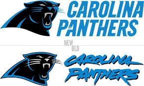 the sports design carolina panthers logo