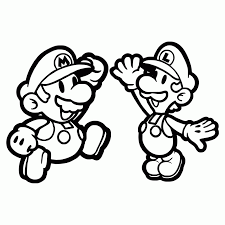 super paper mario coloring pages aecost net aecost net