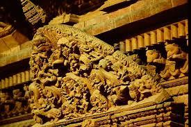 wood carving in nepal artelino