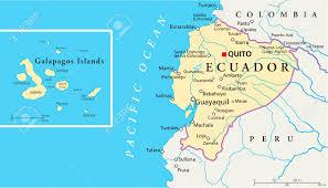 Amelia Island Map Ecuador And Galapagos Islands Political Map Royalty Free Cliparts