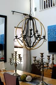 hula hoop orb chandelier hula hoop light