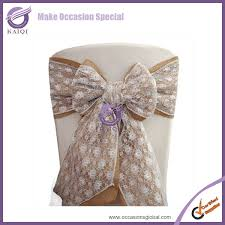 Cheap Chair Covers And Sashes K0892 4 Wholesale Cheap New Chair Tie Backs Lace And Burlap