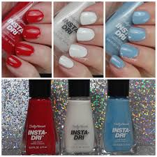 sally hansen limited edition 4th of july insta dri swatches