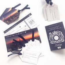 wedding passport invitations by invitationly stationery