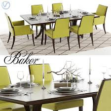 baker vienna table and abrazo chairs 3d model cgtrader