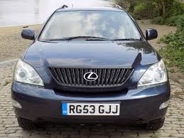 lexus breakers uk classic chrome lexus rx 300 se l auto 2003 53 blue dark